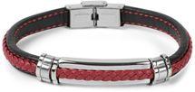 styleBREAKER Unisex Armband mit Flecht und Metallelementen mit Klappverschluss, Armschmuck 05040173 – Bild 1