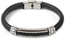 styleBREAKER Unisex Armband mit Flecht und Metallelementen mit Klappverschluss, Armschmuck 05040173 – Bild 7