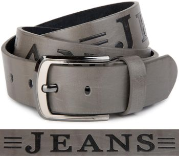 styleBREAKER jeans belt with JEANs embossing and genuine leather, shortened 03010038 – Bild 13