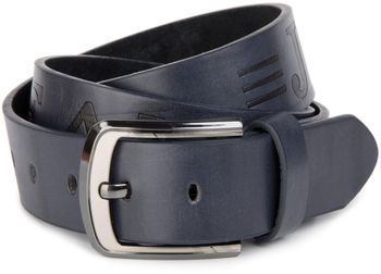 styleBREAKER jeans belt with JEANs embossing and genuine leather, shortened 03010038 – Bild 8