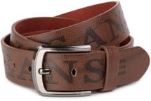 styleBREAKER jeans belt with JEANs embossing and genuine leather, shortened 03010038 – Bild 2