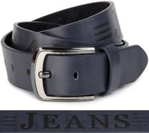 styleBREAKER jeans belt with JEANs embossing and genuine leather, shortened 03010038 – Bild 7