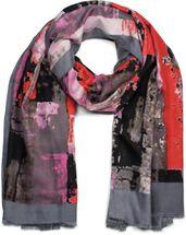 styleBREAKER Damen Schal mit abstrakten Pinselstrich Muster und Fransen, Stola, Tuch 01017106 – Bild 4