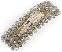 styleBREAKER Damen Haarspange rechteckig mit Kunststoff Perlen und Clipverschluss, Haarklammer, Spange 04027007 – Bild 5
