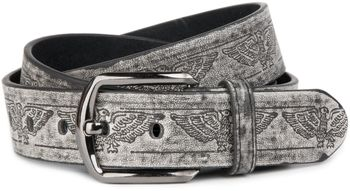 styleBREAKER vintage style jeans belt with different embossings genuine leather, shortened 03010036 – Bild 5