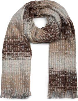 styleBREAKER Damen Schal mit Streifen Web Muster, Pailletten und kurzen Fransen, Winter, Stola 01017114 – Bild 17