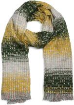 styleBREAKER Damen Schal mit Streifen Web Muster, Pailletten und kurzen Fransen, Winter, Stola 01017114 – Bild 5