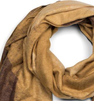 styleBREAKER Damen weicher Schal mit geometrischem Verlauf Muster und Fransen, Winter, Stola 01017115 – Bild 5