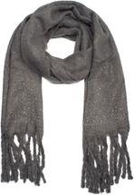 styleBREAKER Damen unifarbener Schal mit Strass und langen dicken Fransen, Glitzersteine, Winter, Stola 01017119 – Bild 9