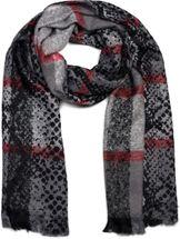 styleBREAKER Damen weicher Schal mit Schlangen Karo Muster, Streifen und Fransen, Winter, Stola 01017120 – Bild 1