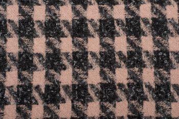 styleBREAKER Damen Schal mit Pepita Karo Hahnentritt Muster und Fransen, Winter, Stola 01017122 – Bild 6