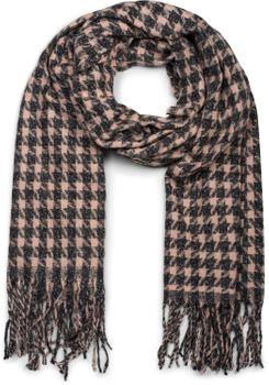 styleBREAKER Damen Schal mit Pepita Karo Hahnentritt Muster und Fransen, Winter, Stola 01017122 – Bild 5