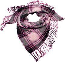 styleBREAKER Damen XXL Strick Dreiecksschal mit Glencheck Karo Muster, Fransen, Winter Schal, Tuch 01018160 – Bild 5