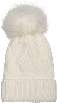 styleBREAKER Damen Strick Bommelmütze mit Rippenstrick Muster und Fleece Futter, Winter Fellbommel Mütze 04024167 – Bild 9