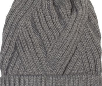 styleBREAKER Damen Strick Bommelmütze mit Rippenstrick Muster und Fleece Futter, Winter Fellbommel Mütze 04024167 – Bild 7