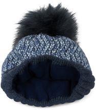 styleBREAKER Damen bunte Strick Bommelmütze mit Fleece Futter, Winter Fellbommel Mütze 04024169 – Bild 17