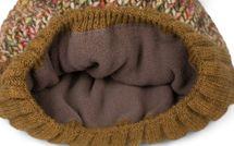 styleBREAKER Damen bunte Strick Bommelmütze mit Fleece Futter, Winter Fellbommel Mütze 04024169 – Bild 42