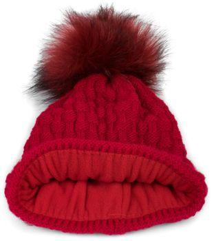 styleBREAKER Unisex warme Strick Bommelmütze mit Flecht Muster und Fleece Futter, Winter Fellbommel Mütze 04024171 – Bild 15
