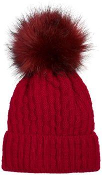 styleBREAKER Unisex warme Strick Bommelmütze mit Flecht Muster und Fleece Futter, Winter Fellbommel Mütze 04024171 – Bild 13