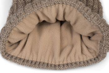 styleBREAKER Unisex warme Strick Bommelmütze mit Flecht Muster und Fleece Futter, Winter Fellbommel Mütze 04024171 – Bild 36
