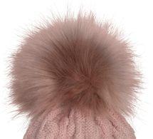 styleBREAKER Unisex warme Strick Bommelmütze mit Flecht Muster und Fleece Futter, Winter Fellbommel Mütze 04024171 – Bild 10
