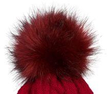 styleBREAKER Unisex warme Strick Bommelmütze mit Flecht Muster und Fleece Futter, Winter Fellbommel Mütze 04024171 – Bild 14