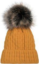 styleBREAKER Unisex warme Strick Bommelmütze mit Flecht Muster und Fleece Futter, Winter Fellbommel Mütze 04024171 – Bild 21