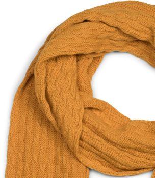 styleBREAKER Unisex einfarbiger Strick Schal mit Flecht Muster, Winter Strickschal 01018161 – Bild 20