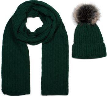 styleBREAKER Unisex Strick Schal und Mütze Set mit Flecht Muster, Thermo-Fleece Innenfutter, Winter 01018212 – Bild 19