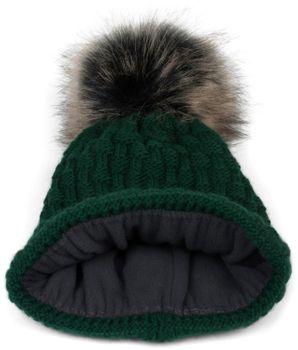 styleBREAKER Unisex Strick Schal und Mütze Set mit Flecht Muster, Thermo-Fleece Innenfutter, Winter 01018212 – Bild 24