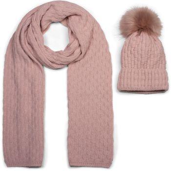 styleBREAKER Unisex Strick Schal und Mütze Set mit Flecht Muster, Thermo-Fleece Innenfutter, Winter 01018212 – Bild 25