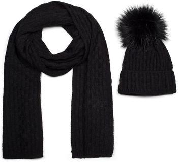 styleBREAKER Unisex Strick Schal und Mütze Set mit Flecht Muster, Thermo-Fleece Innenfutter, Winter 01018212 – Bild 31