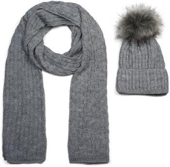 styleBREAKER Unisex Strick Schal und Mütze Set mit Flecht Muster, Thermo-Fleece Innenfutter, Winter 01018212 – Bild 43