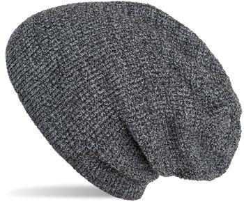 styleBREAKER Unisex Strick Beanie Mütze mit Karo Strickmuster, Winter Slouch Longbeanie 04024172 – Bild 1