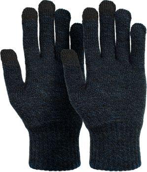 styleBREAKER Unisex Touchscreen Strick Handschuhe mit Karo Strickmuster, warme Strickhandschuhe, Fingerhandschuhe, Winter 09010021 – Bild 13