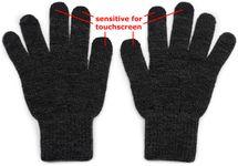 styleBREAKER Unisex Touchscreen Strick Handschuhe mit Karo Strickmuster, warme Strickhandschuhe, Fingerhandschuhe, Winter 09010021 – Bild 24
