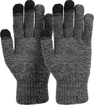 styleBREAKER Unisex Touchscreen Strick Handschuhe mit Karo Strickmuster, warme Strickhandschuhe, Fingerhandschuhe, Winter 09010021 – Bild 1