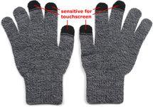 styleBREAKER Unisex Touchscreen Strick Handschuhe mit Karo Strickmuster, warme Strickhandschuhe, Fingerhandschuhe, Winter 09010021 – Bild 6