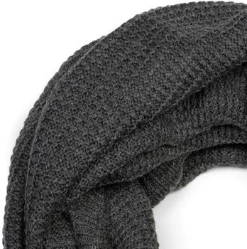 styleBREAKER Unisex Strick Loop Schal, Beanie Mütze und Touchscreen Handschuhe Set, Karo Strickmuster, Winter 01018213 – Bild 23