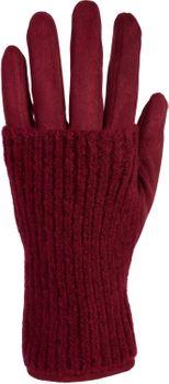 styleBREAKER Damen Touchscreen Stoff Handschuhe mit abnehmbaren Strick Stulpen, warme Fingerhandschuhe, Winter 09010022 – Bild 18