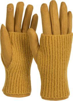 styleBREAKER Damen Touchscreen Stoff Handschuhe mit abnehmbaren Strick Stulpen, warme Fingerhandschuhe, Winter 09010022 – Bild 26