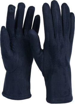 styleBREAKER Damen Touchscreen Stoff Handschuhe mit abnehmbaren Strick Stulpen, warme Fingerhandschuhe, Winter 09010022 – Bild 42