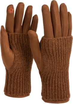 styleBREAKER Damen Touchscreen Stoff Handschuhe mit abnehmbaren Strick Stulpen, warme Fingerhandschuhe, Winter 09010022 – Bild 46