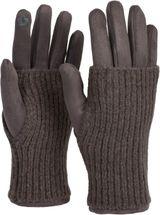 styleBREAKER Damen Touchscreen Stoff Handschuhe mit abnehmbaren Strick Stulpen, warme Fingerhandschuhe, Winter 09010022 – Bild 21