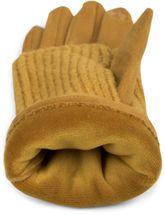 styleBREAKER Damen Touchscreen Stoff Handschuhe mit abnehmbaren Strick Stulpen, warme Fingerhandschuhe, Winter 09010022 – Bild 30