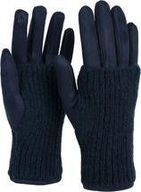 styleBREAKER Damen Touchscreen Stoff Handschuhe mit abnehmbaren Strick Stulpen, warme Fingerhandschuhe, Winter 09010022 – Bild 41
