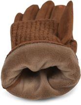 styleBREAKER Damen Touchscreen Stoff Handschuhe mit abnehmbaren Strick Stulpen, warme Fingerhandschuhe, Winter 09010022 – Bild 50