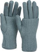 styleBREAKER Damen Touchscreen Stoff Handschuhe mit abnehmbaren Strick Stulpen, warme Fingerhandschuhe, Winter 09010022 – Bild 6