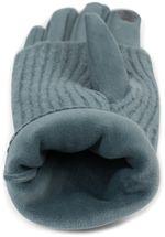 styleBREAKER Damen Touchscreen Stoff Handschuhe mit abnehmbaren Strick Stulpen, warme Fingerhandschuhe, Winter 09010022 – Bild 10