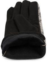 styleBREAKER Damen Handschuhe mit Oberseite in glänzender Schlangenleder Optik und Fleece Futter, Fingerhandschuhe, Winter 09010023 – Bild 10